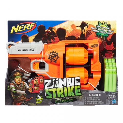 Nerf Zombie Strike Flipfury |AGE 8+