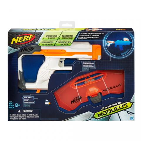 Nerf Modulus Strike & Defend Upgrade Kit |AGE 8+