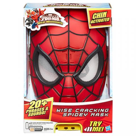 Spiderman Wise Cracking Spidey Mask  AGE 5+